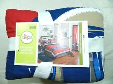 Circo Full Queen Quilt & Shams bedding bed cover Set Vintage Car Collection New