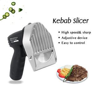 Machine kebab Couteaux de cuisine sans fil kebab electrique trancheuse 2 lames