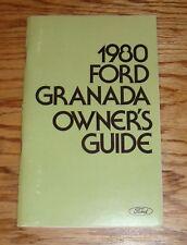Original 1980 Ford Granada Owners Operators Manual 80