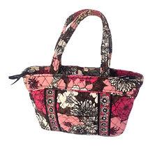 Vera Bradley Little Mandy Shoulder Bag Mocha Rouge Pink Brown Black White 8X11
