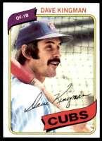 1980 Topps (Sb2) Dave Kingman Chicago Cubs #240