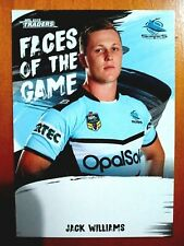 2019 NRL TRADERS 'FACES OF THE GAME' TRADING CARD - JACK WILLIAMS/SHARKS