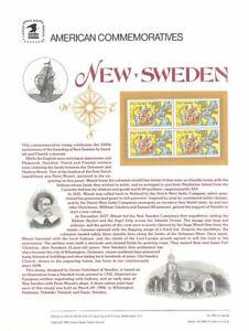 #308 44c New Sweden Anniversary #C117 USPS Commemorative Stamp Panel