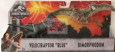 VELOCIRAPTOR BLUE & DIMORPHODON Mattel JURASSIC WORLD Dino 2 PACK 2018