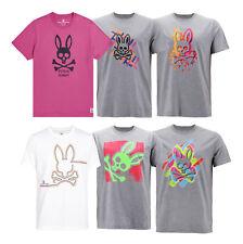 Men's Psycho Bunny Skull Short Sleeve Crew Neck Tee Logo Graphic Shirt T-Shirt