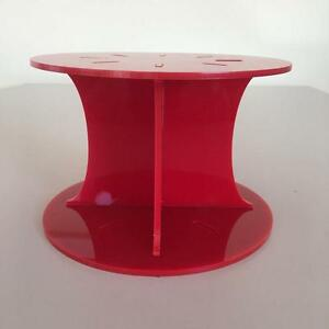 Plain Design Round Wedding/Party Cake Separators - Red Acrylic