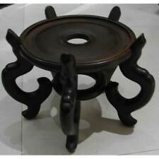 Chinese Wood Pot Base, Planter Display Stand, Pot Floor Stand 12""
