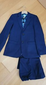 Ted Baker Boys Navy Blue 2 Piece Suit Age 8-9 Years Blazer And Trousers