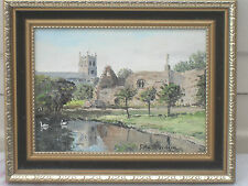 VINTAGE 1983 SIGNED ROBIN DAVIDSON OIL PAINTING CHRISTCHURCH PIRORY FRAMED