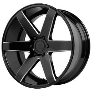 "4-NEW 22"" Inch Verde V24 Invictus 22X9.5 6x135 +31mm Black/Milled Wheels Rims"