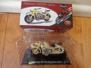 1/24 ATLAS IXO CLASSIC MOTOR BIKES- ZUNDAPP KS750 FLAT TWIN 1941 BIKE MOTORCYCLE