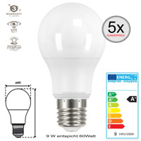 E27 LED SMD Leuchtmittel Glühlampe 9 W entspricht 60W normalweiß Birne 5 Stück