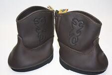 Cowboy Boots Doll Boots Soft Vinyl Brown Clean Build a Bear Footwear