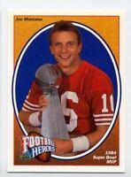 1991 Upper Deck JOE MONTANA Rare FOOTBALL HEROES #3 SB MVP San Francisco 49ers