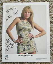 Lilian Garcia Wwf Wwe Auto Signed 8 x 10 Photo Huge Collection Rare Look