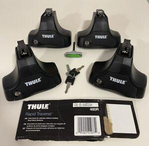 Thule 480R Rapid Traverse Foot Pack Set w/ locks keys. MUST SEE!