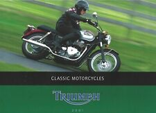 2001 German Triumph Model-Range Brochure Legend TT Triumph Bonneville Adventurer