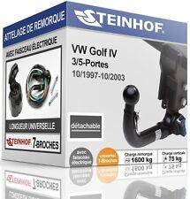 ATTELAGE démontable VW GOLF IV 3/5-Portes 1997-2003+FAIS.UNIV.7broches COMPLET