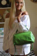 Kate Spade Victoria Falls Madeline Green Leather Ostrich Shoulder Doctor Bag