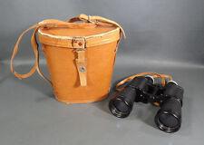 WW2 Herlango 7x50 German Military Marine Officers Binoculars w/ Leather case Bag