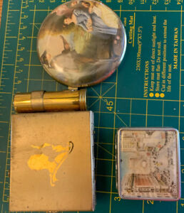 Vintage Compacts Lot NY World Fair, Lipstick Blush Mirror, Case Lot Of 3