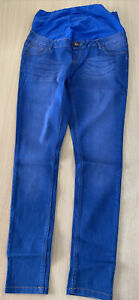 Maternity New Look Over The Bump Skinny Jeans Bright Blue Size 14 BM180