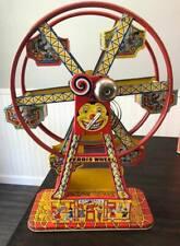 Vintage Antique  J Chein Hercules Wind-Up Ferris Wheel Tin Litho Works