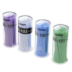 4 Bottles Dental Use Disposable Micro Applicators Micro Brushes 4 Size Azdent