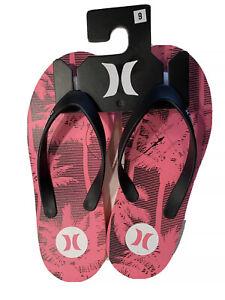 Hurley Men's Size 9 Sandals Flip-Flops Sandals Pink