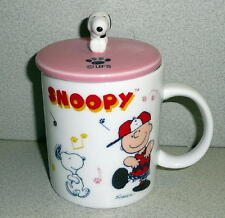 Snoopy Peanuts Gang Ceramic Everwin International TEA/COFFEE MUG WITH LID *CUTE
