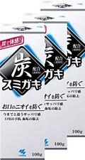 3 PIECES KOBAYASHI SUMIGAKI CHARCLEAN CHACOAL POWER TOOTHPASTE 100G JAPAN