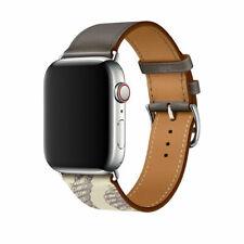 Correa de Cuero Reloj Banda Correa de lujo para Apple Watch serie se 6 5 4 3 2 1 38-44