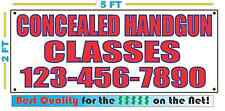 CONCEALED HANDGUN CLASSES w CUSTOM PHONE Banner Sign NEW Best Quality for the $