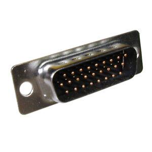 SUB-D-Stecker 26-polig High Density gestanzte Kontakte mit Lötkelch