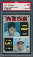 1970 Topps Set Break # 36 Reds Rookies Breeden Carbo PSA 8 *OBGcards*