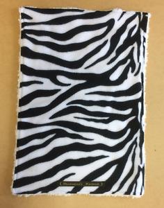 Handmade Zebra Print Dog Fleece Blanket - Washable - Soft & Cosy, Puppy Blanket