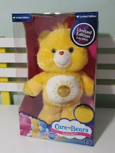 NEW Care Bear Limited Edition Yellow Tinsel Glitter FUNSHINE BEAR #917