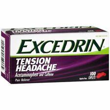 Excedrin Tension Headache Caplets - 100 CP (3 Packs)