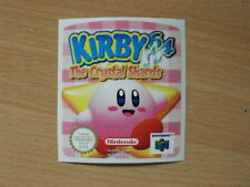 Nintendo 64 Kirby 64 Replacement Label Decal Sticker Cartridge precut