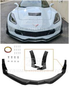 Z06 CARBON FLASH Front Lip Splitter Stage 3 Side Winglets For 14-19 Corvette C7