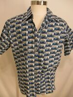 Kahala John Severson Mens Blue Surfers Cotton Hawaiian Shirt XL