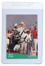 FRED FUNK Signed 1991 PRO SET Golf Card #54 PGA TOUR University of Maryland