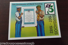 BARBADOS MINIATURE SHEET MNH MINT 1982 75TH ANNIVERSARY OF SCOUTING SCOUTS