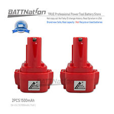 2 x 9.6V NI-CD Battery for Makita PA09 9120 9122 192595-8 192596-6 193977-7