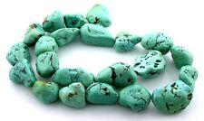 "77.4 Gram 22 Nugget Natural Sonoran Turquoise Nugget Gem Bead 15"" Strand ET10"