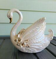 """Vintage Norcrest Golden Dogwood Swan 8.5"""" x 8.5"""""""