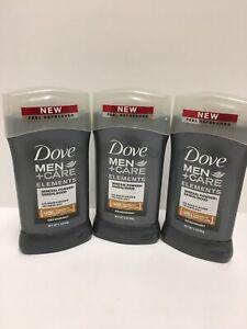 Dove Men+care Elements Mineral Powder+sandalwood Deodrant Lot Of 3