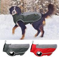 Waterproof Reflective Dog Jacket Inner Fleece Padded Dog Winter Coat Clothing