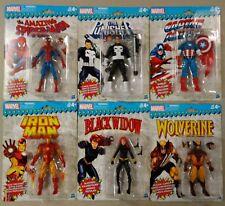 Marvel Legends Vintage Retro Wave Figures Set of 6 Spider-man Punisher Wolverine