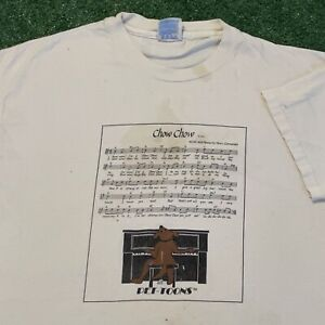 Chow Chow T Shirt Mens XL White Vintage 90s Pet-Toons Dog Music Funny Piano USA
